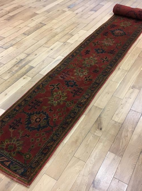 Exceptionally Long Turkish Ushak Runner Ref 6508
