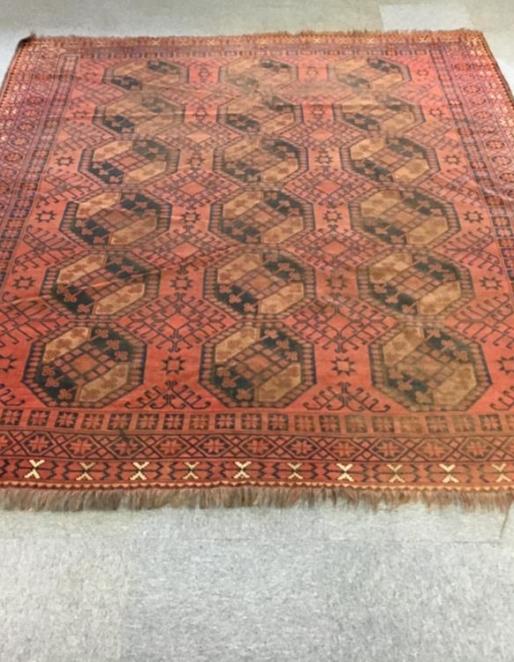 Afghan Carpet Ref: 6341